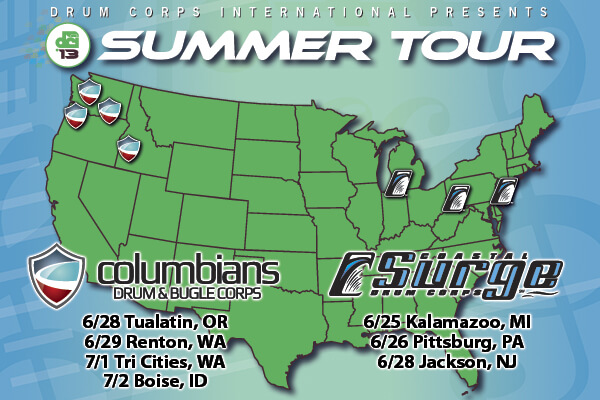 coastal surge and columbians will both make short regional tours in 2013 beginning at the end of june