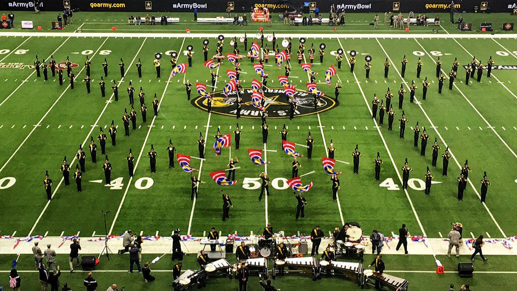 U.S. Army All-American Marching Band's halftime performance