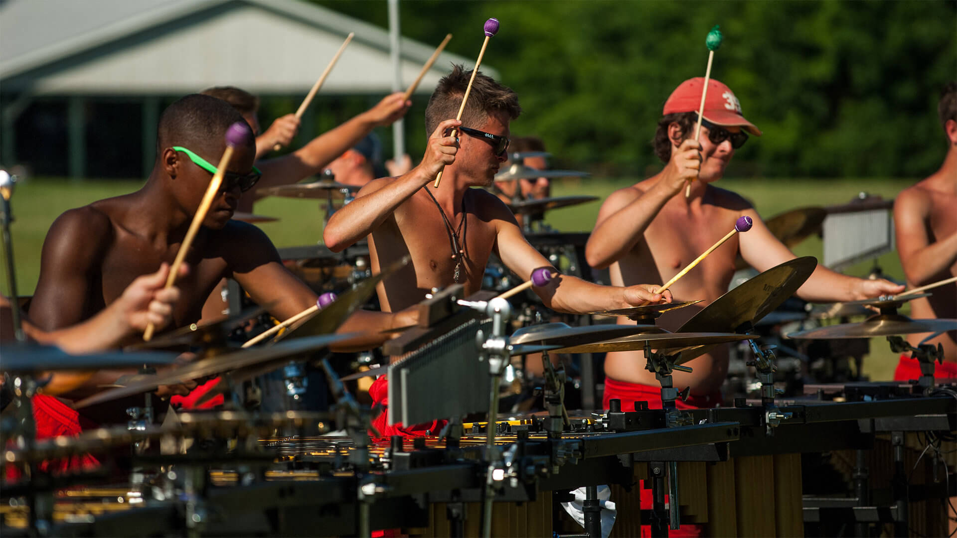 Madison Scouts front ensemble
