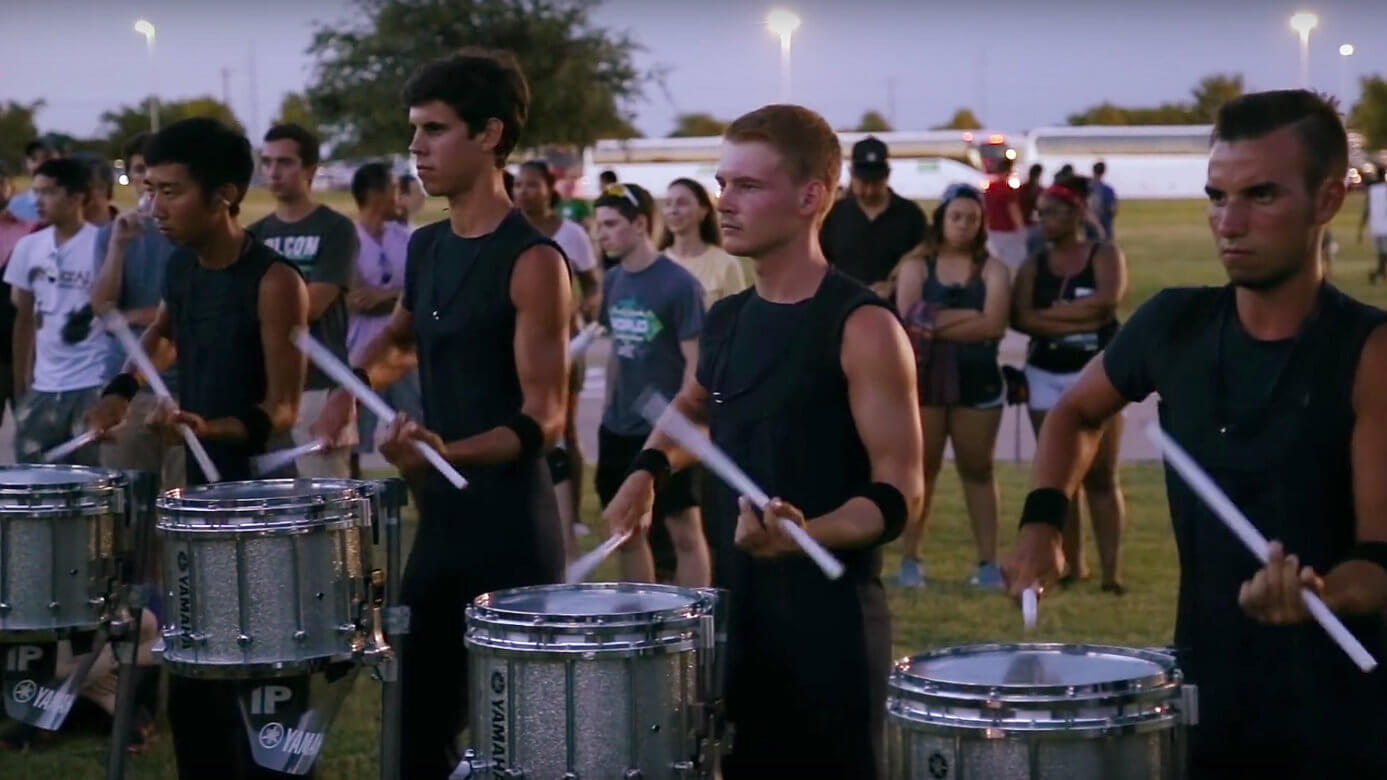 2015 DCI drum lines in the lot