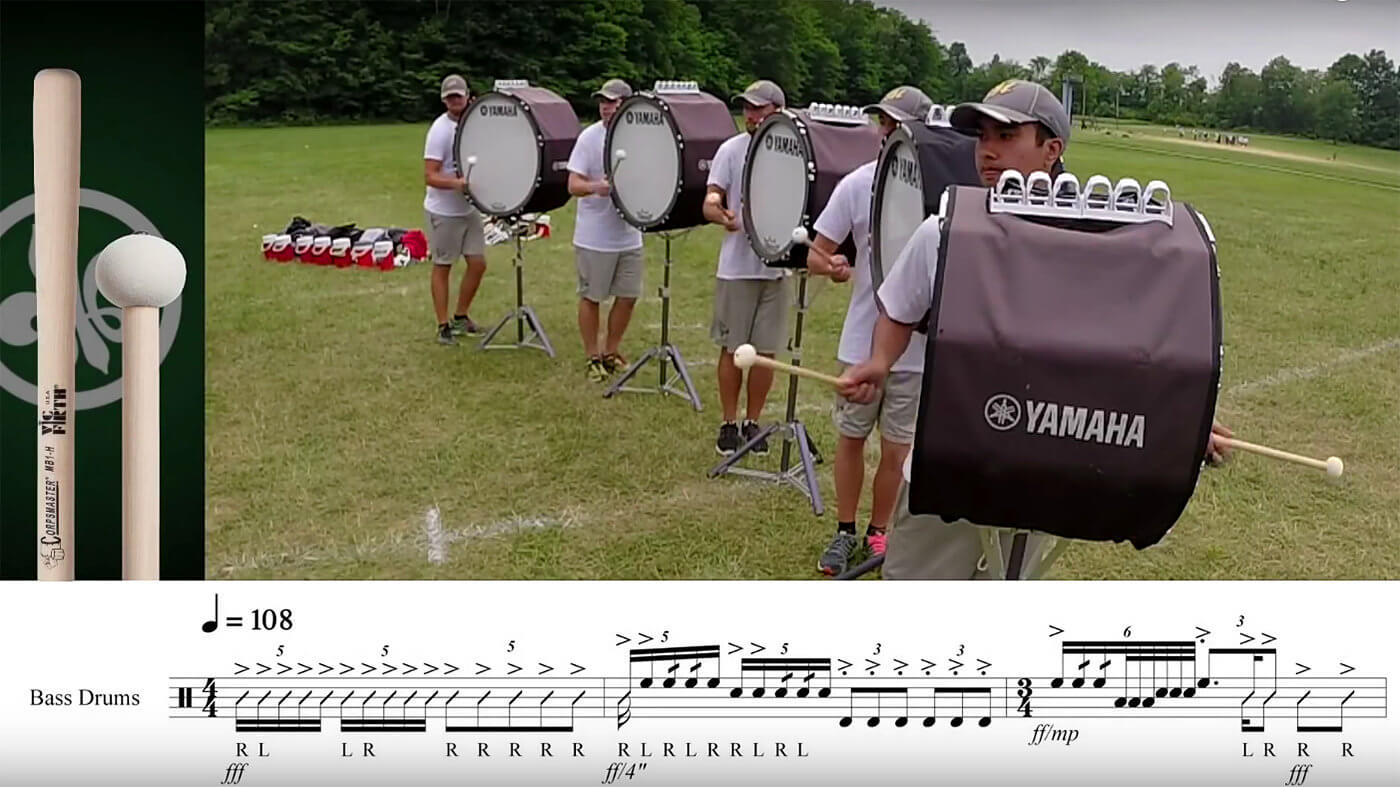 Play along with the Madison Scouts drum line