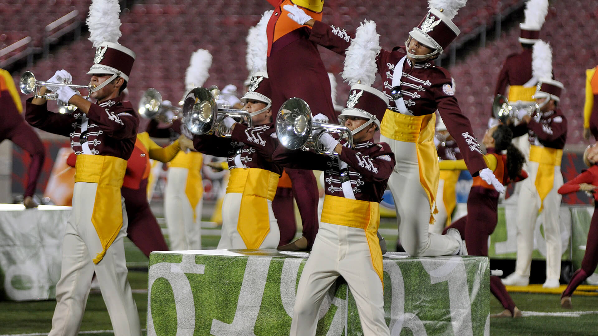 Cadets stay on top during rainy night in Louisville