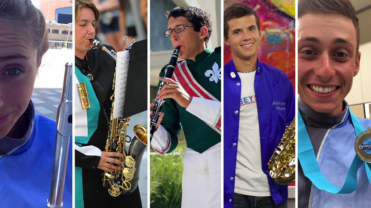 These woodwind players do drum corps, and so can you