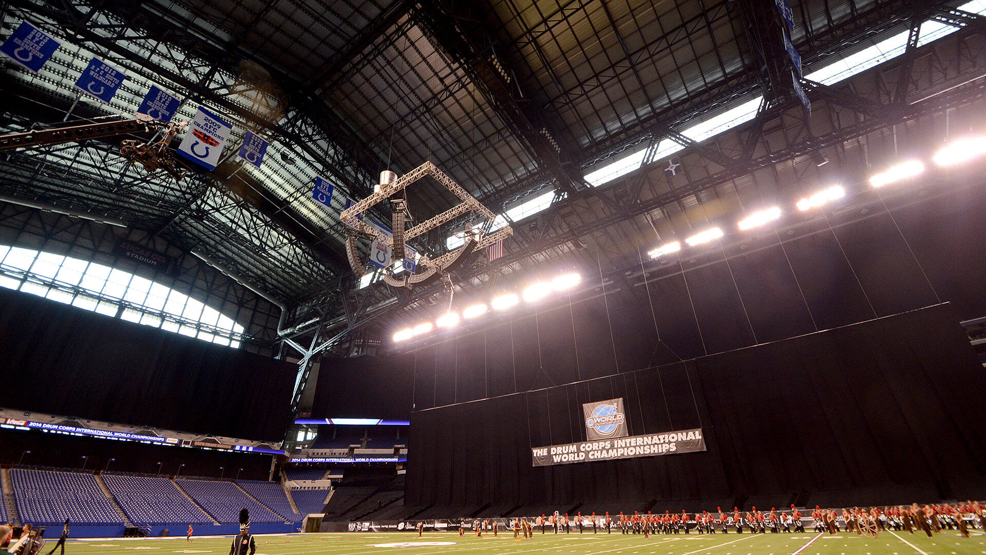 Anticipated storms will keep Lucas Oil Stadium roof closed
