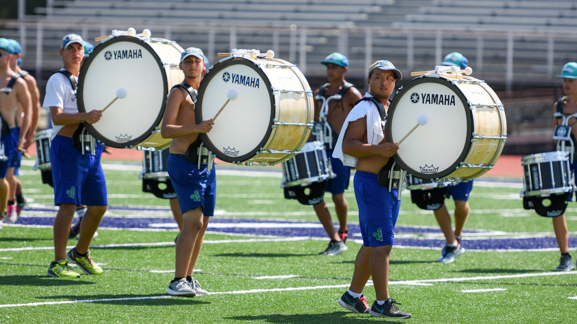 Madison Scouts Bass Drum Line Practice The Corps Percussion Feature O2