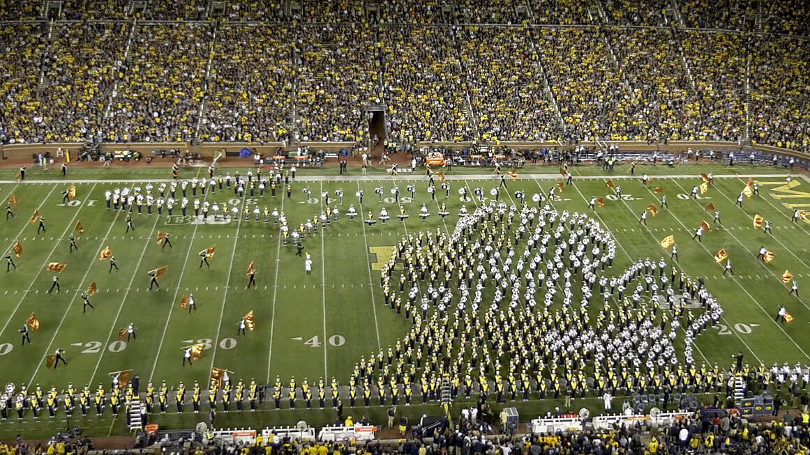 6 awesome things from last weekend in college marching band