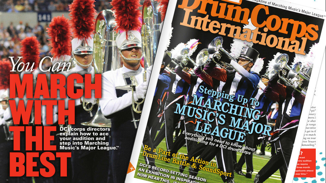 All about auditions: DCI Magazine Fall, 2015